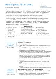 Psychology Resume Examples by Psychologist Cv Examples And Template