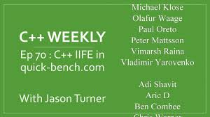 Quik Bench C Weekly Ep 70 C Iife In Quick Bench Com Youtube