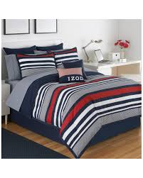 Blue Bed Set Amazon Com Izod Varsity Stripe Comforter Set Home U0026 Kitchen