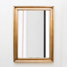 beveled wall mirror with dimensional wood frame ebth