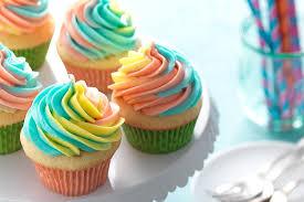 rainbow frosted cupcakes flourish king arthur flour
