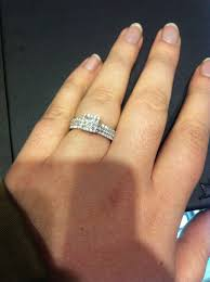 wedding ring with two bands anyone with two wedding rings show me weddingbee