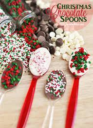 christmas chocolate christmas chocolate spoons cherished bliss
