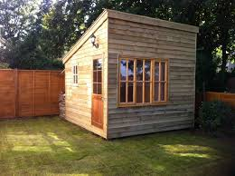 shedworking building a garden office before and after tiny