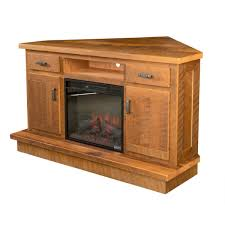 barnwood corner fireplace entertainment center amish crafted