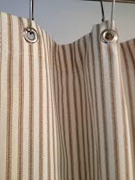 Black And Grey Curtains Ticking Stripe Shower Curtain Black Brown Grey Navy Blue