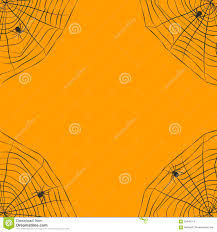 halloween background vector halloween orange background with spider web stock vector image