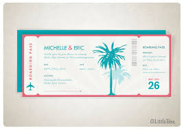 Boarding Pass Wedding Invitations Items Similar To Custom Wedding Invitation Beach Boarding Pass