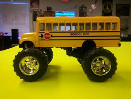 free toysmith monster truck bus pull action