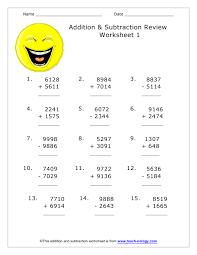 49 addition and subtraction worksheets adding and subtracting