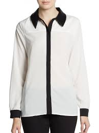 black blouse with white collar blouse clothing part 2
