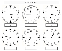 interactive clock resources and worksheets for teaching time