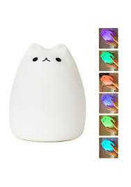 usb cat night light mystery portable silicone led pusheen cat night light l usb