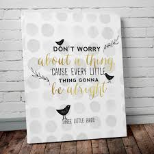 Nursery Bird Decor Three Birds Typography Nursery Decor Print On Polka Dots