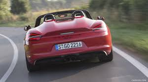 guards red porsche 2016 porsche boxster spyder color guards red rear hd