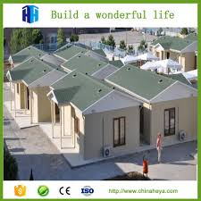 low cost light steel frame prefab camp construction site
