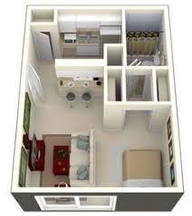 3d floor plan image 0 for the studio floor plan 400 sqft