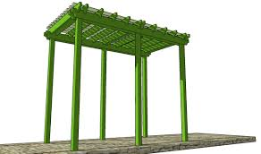 grape arbor plans youtube