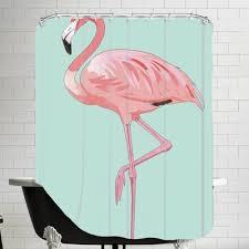 flamingo shower curtain wayfair ca