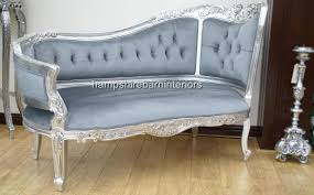 loveseat chaise lounge sofa anna belle chaise in silver leaf or gold leaf other finishes