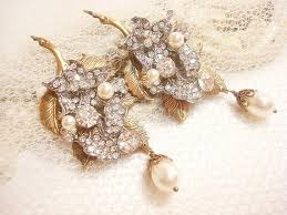 vintage wedding earrings chandeliers bridal earrings vintage wedding earrings pearl wedding jewelry