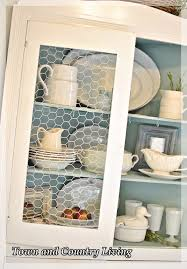 Kitchen Cabinet With Glass Replacing Glass In A Cabinet With Chicken Wire Hometalk