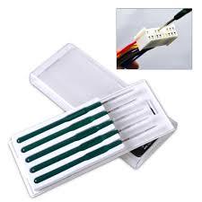 online shop dwcx diy 5pcs car cable wire terminal socket plug pin