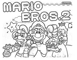 mario bros coloring pages free printable download super brothers