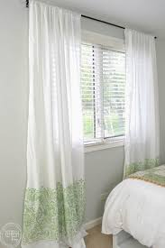 Diy Cheap Curtains Cheap Diy Curtains Made With Sheets Refresh Living