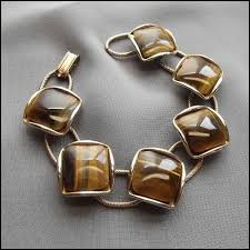 eye gold bracelet images Tigers eye vintage bracelet square gems w gold 1950s jewelry jpg