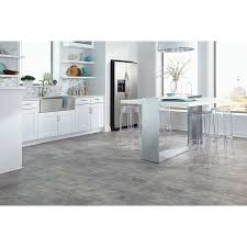 Kitchen Vinyl Flooring by Shop Stainmaster 18 In X 18 In Groutable Castaway Beige Peel And