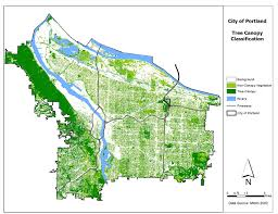 map of oregon freeways low canopy and served neighborhoods program highlights