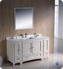 Classic Bathroom Furniture Fresca Oxford 60 Traditional Bathroom Vanity Antique White Finish