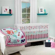 the little mermaid ariel sea treasures 3 piece crib bedding set