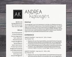 Modern Word Resume Templates Modern Resume Template Cv Template For Word Mac Or Pc