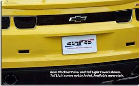 camaro light covers gts rear blackout panel for 2010 2013 camaro pfyc