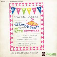 free printable carnival birthday party invitations drevio