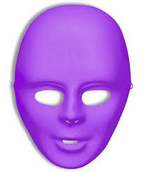 u0027s male blank purple halloween costume colored face mask