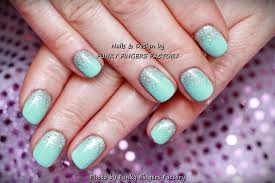 gelish mint green nails funky fingers factory
