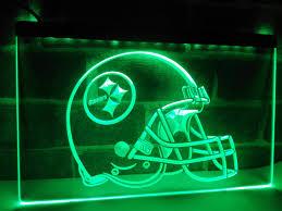 online shop la252 pittsburgh steelers helmet bar led neon light