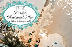 burlap christmas tree tutorial ballard designs knock off ask anna