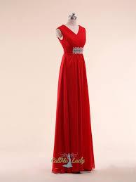 maxi kjoler simpelt stropperne røde maxi kjoler brudepigekjoler bryllup gæst