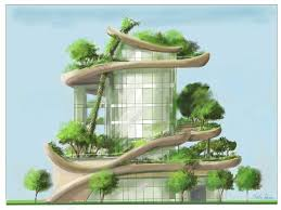 building concept green building concept for sustainability saves the environment