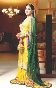 she247 latest trend of mehndi dresses in pakistan 2014