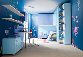 Single Bed Designs For Boys Kids Bedroom Underwater Fresco Ideas For Blue Boys Room Decor