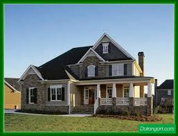 collections of two story house plans with front porch free home