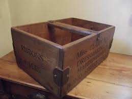 woods vintage home interiors rustic wooden advertising box by woods vintage home interiors