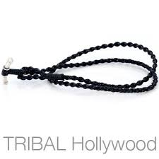 braided rope necklace images Black braided rope hand woven waxed cotton cord necklace by bico jpg