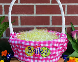 personalized easter basket liners lined easter basket etsy