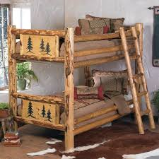 Log Bunk Bed Plans Rustic Rocky Mountain Log Bunk Bed Reclaimed
